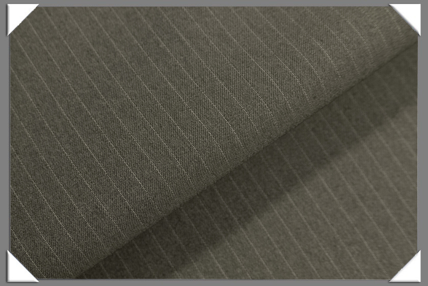 "Grey Vegan 1/4"" Stripe Fabric"
