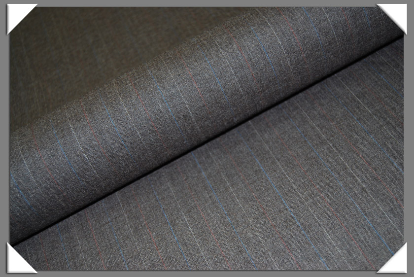 Grey Multi-Stripe Suiting Fabric