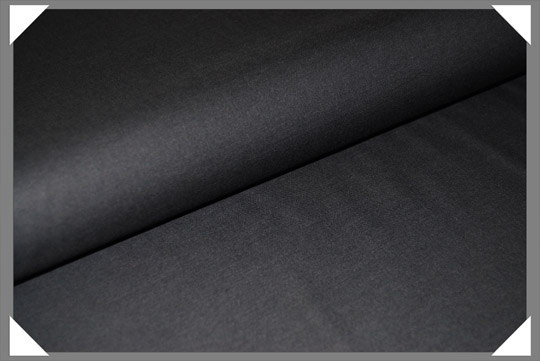 Black Broadcloth Fabric