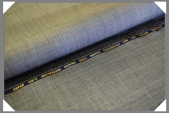 Lt. Grey Sharkskin Super 120's Fabric