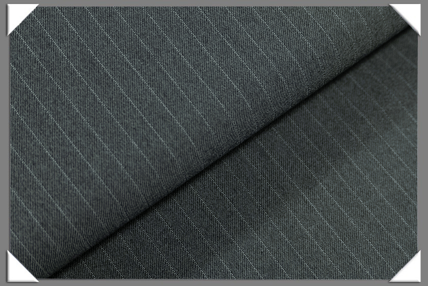 "Blue/Grey Vegan 1/4"" Stripe Fabric"
