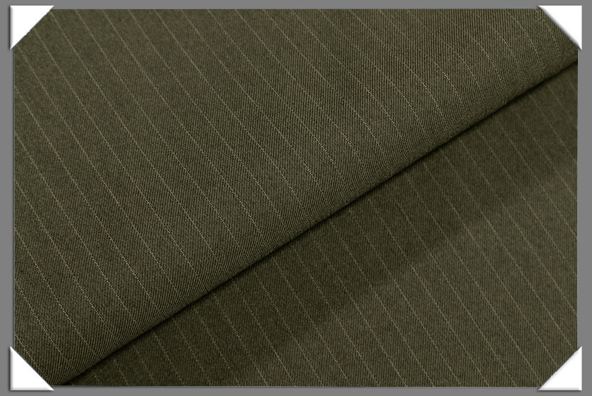 "Olive Vegan 1/4"" Stripe Fabric"