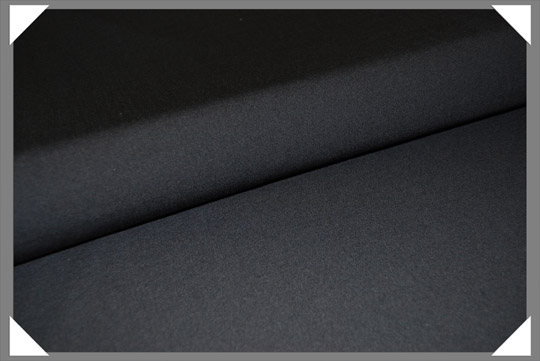 Black Wool Lyrca Fabric