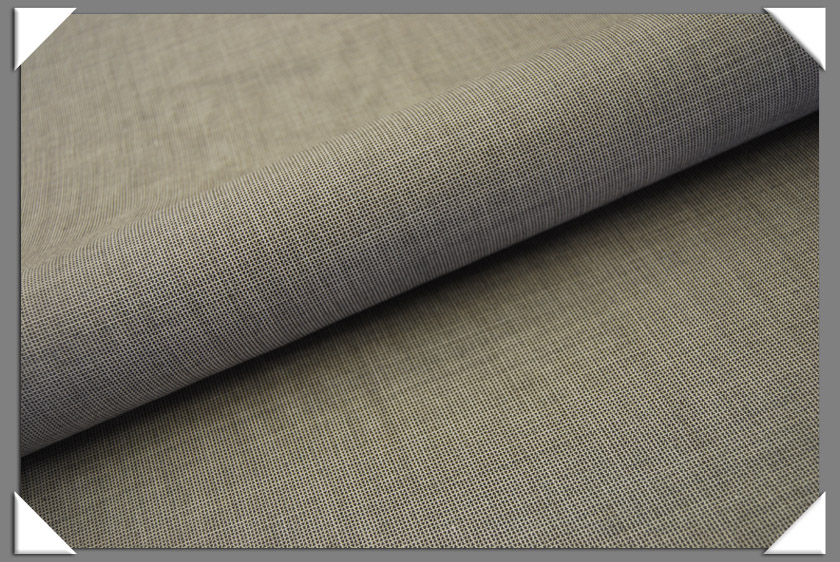 Olive/Grey Texture Wool Suiting Fabric