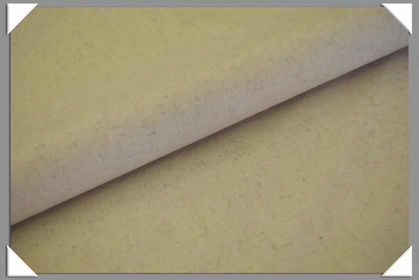 Cream Wool/Nylon Melton Fabric
