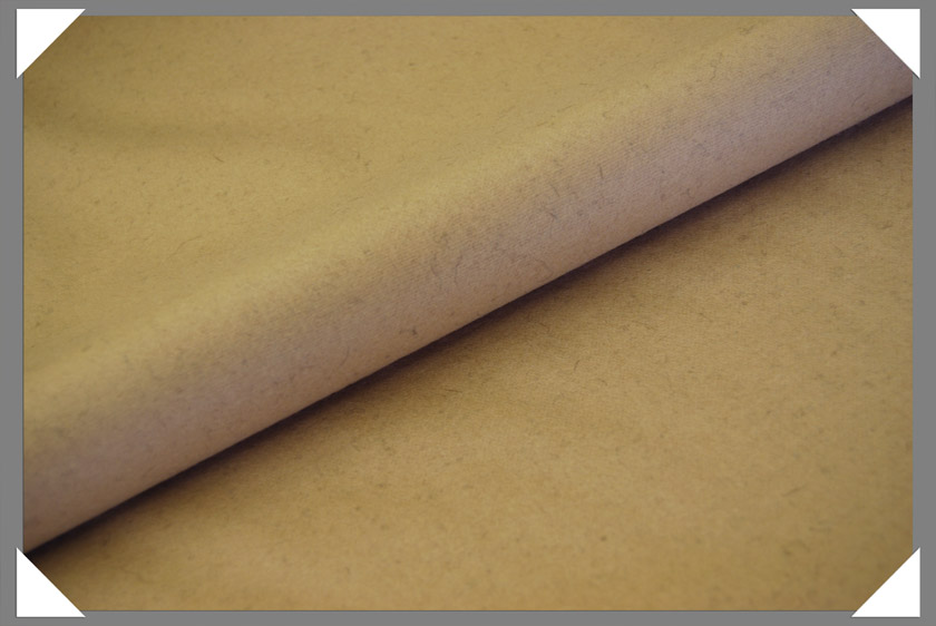 Camel Wool/Nylon Melton Fabric