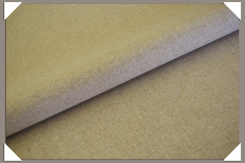 Oatmeal Wool/Nylon Melton Fabric