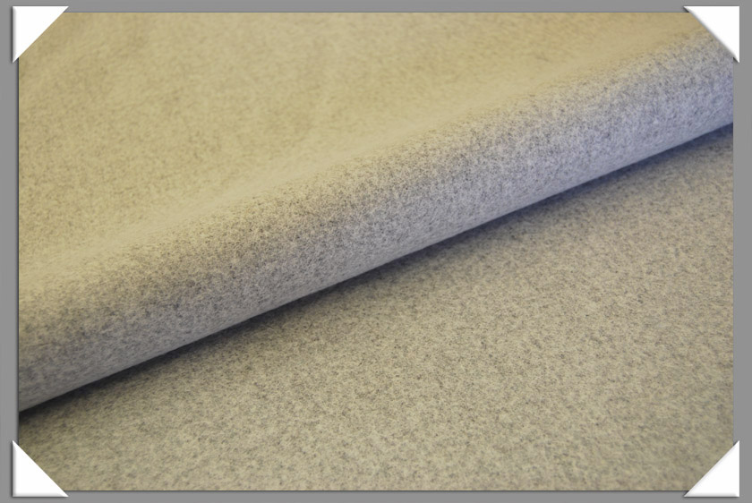 Lt. Grey Heathered Wool/Nylon Melton Fabric