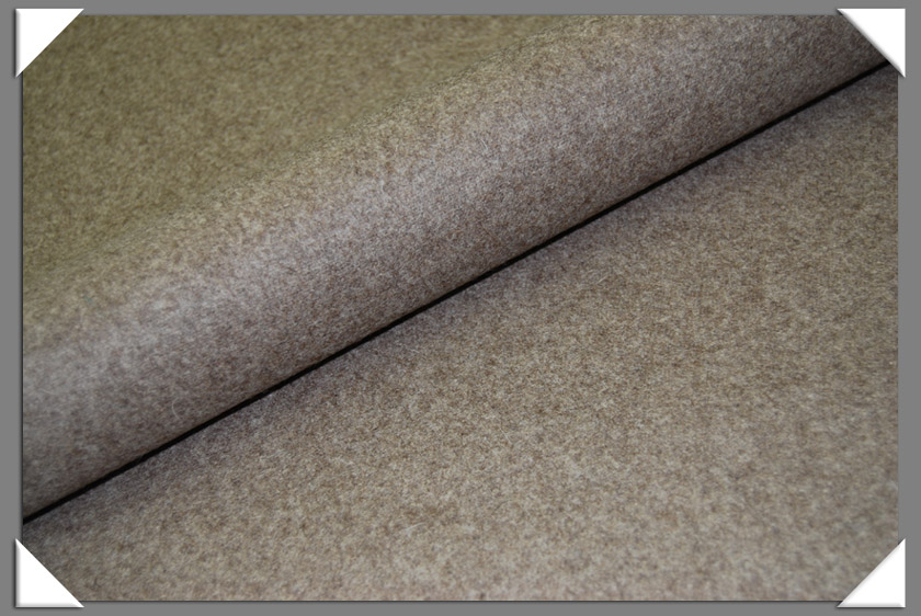 Heather Taupe Wool/Nylon Melton