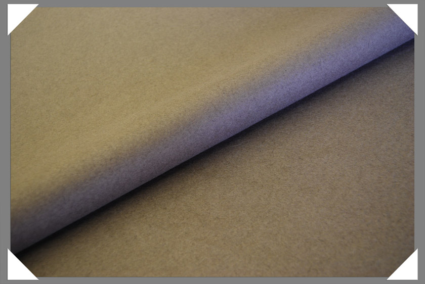 Taupe Wool/Nylon Melton Fabric