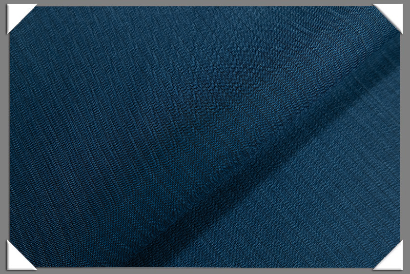 Dark Blue Vegan Herringbone Fabric