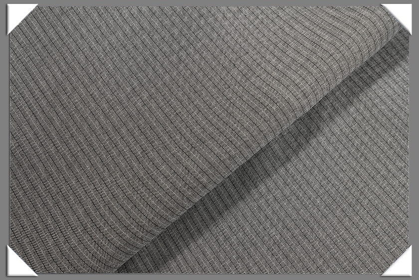 Grey Vegan Herringbone Fabric