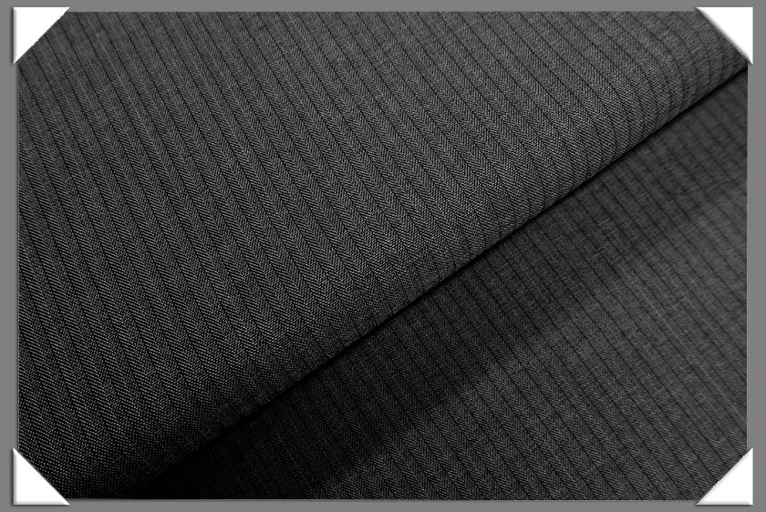 Charcoal Vegan Herringbone Fabric