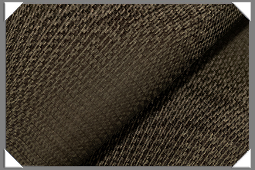 Brown Vegan Herringbone Fabric