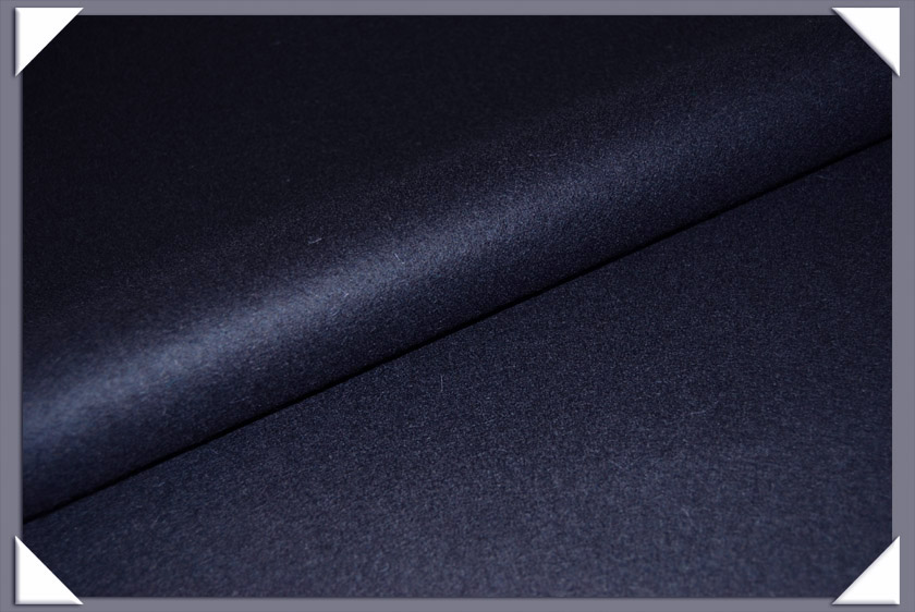 Navy Wool/Nylon Melton Fabric