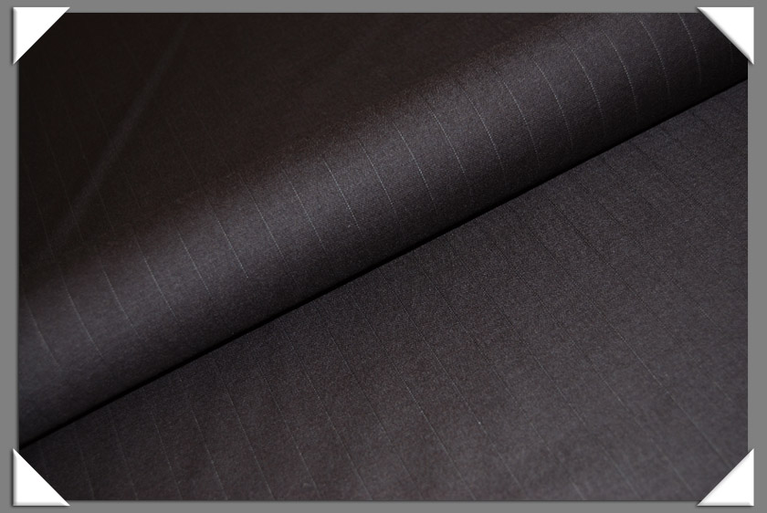 Brown Pinstripe Suiting Fabric