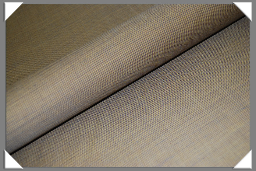 Golden Mini-Texture Wool Fabric
