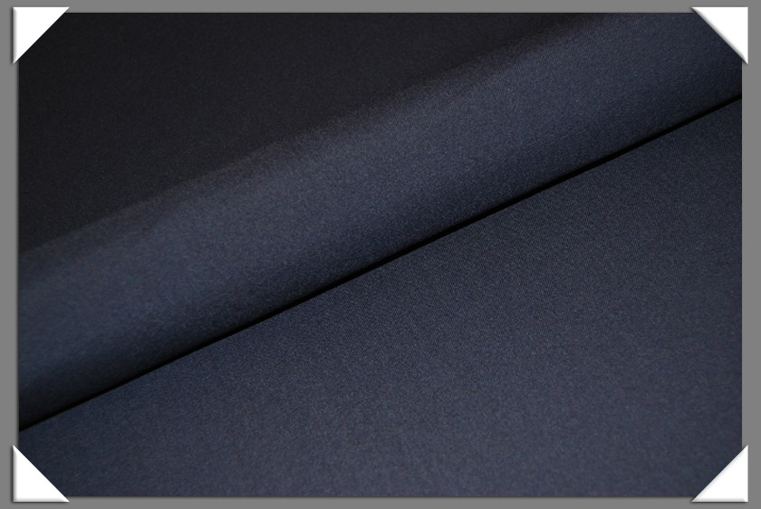 Navy Wool Lycra Fabric