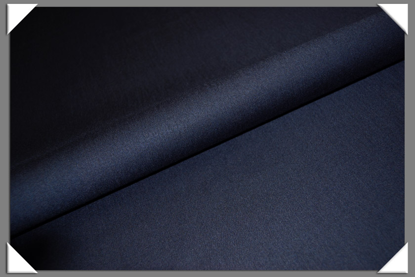 Navy Worsted Flannel Fabric
