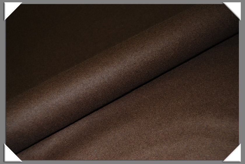 Brown Wool/Nylon Melton Fabric