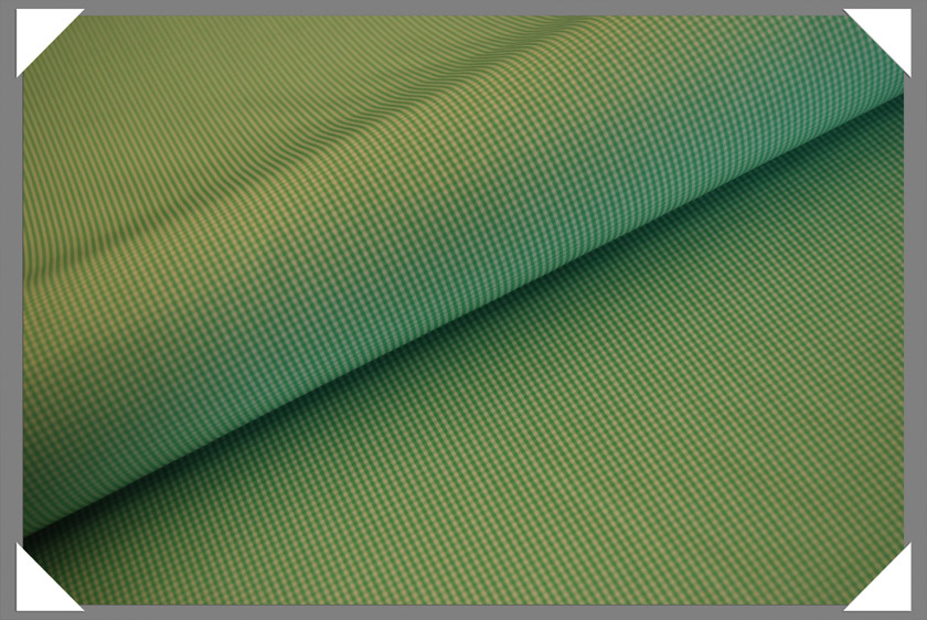 Mini Gingham Shirting Fabric - Lime