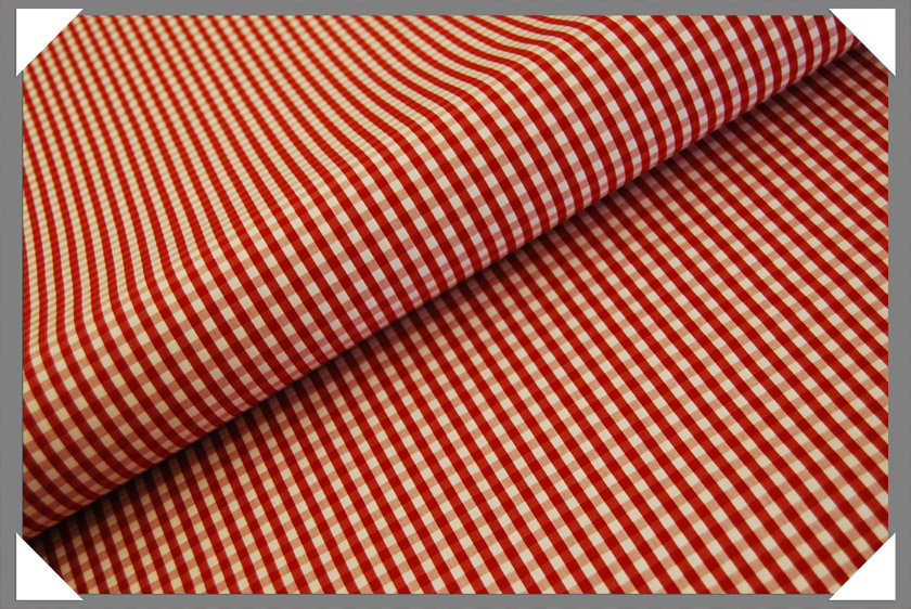 Gingham Shirting Fabric - Red