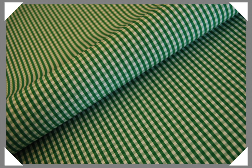 Gingham Shirting Fabric - Green