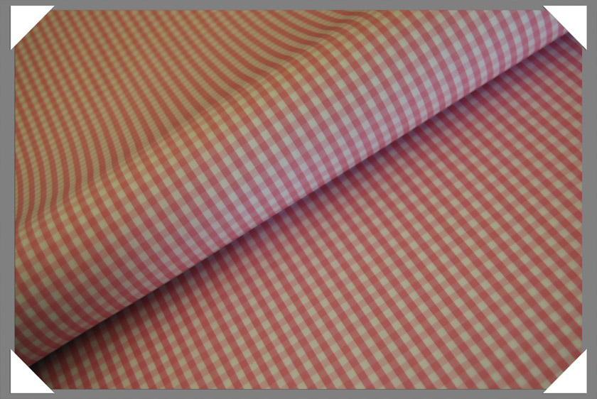 Gingham Shirting Fabric - Pink