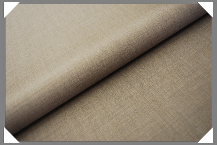 Heather Lt. Brown Gabardine Fabric