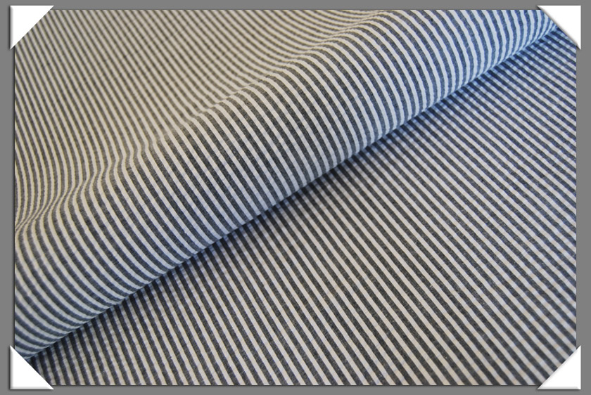 Grey Seersucker Fabric