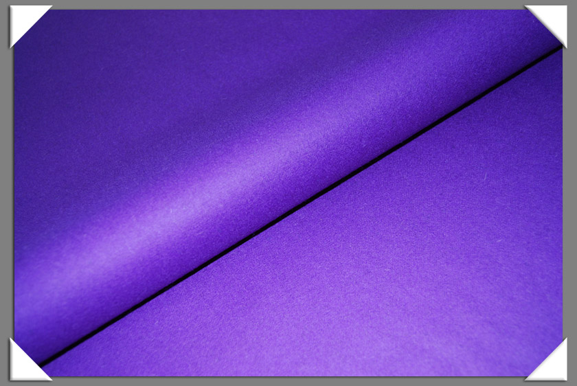 Purple Wool/Nylon Melton Fabric