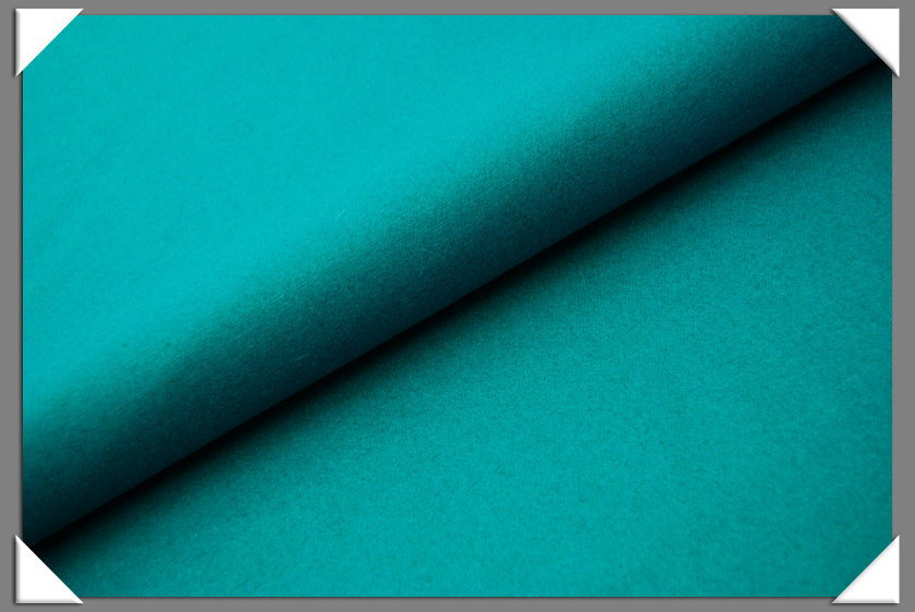 Turquoise Wool/Nylon Fabric