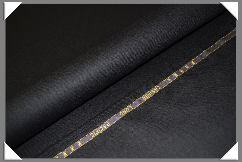 Black Worsted Flannel Fabric