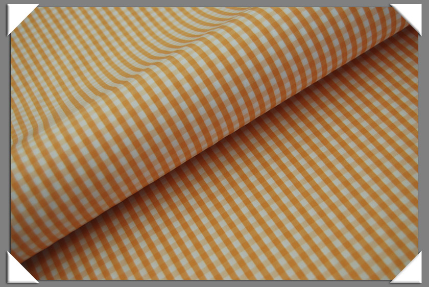 Gingham Shirting Fabric - Peach
