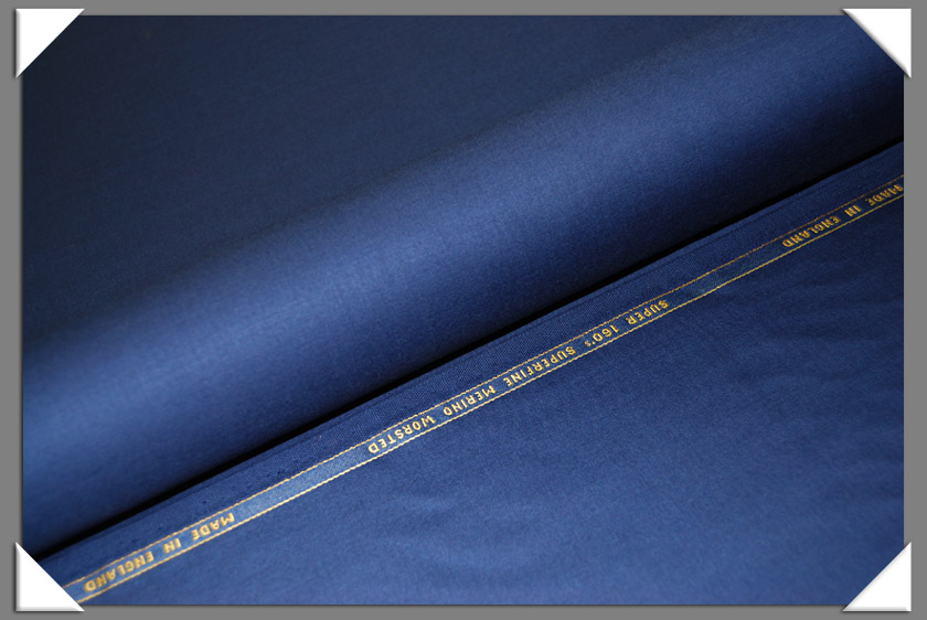 Electric Blue Super 160's Wool Fabric