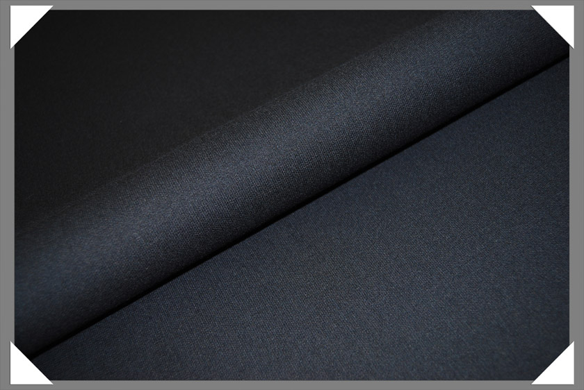Black Crepe Fabric