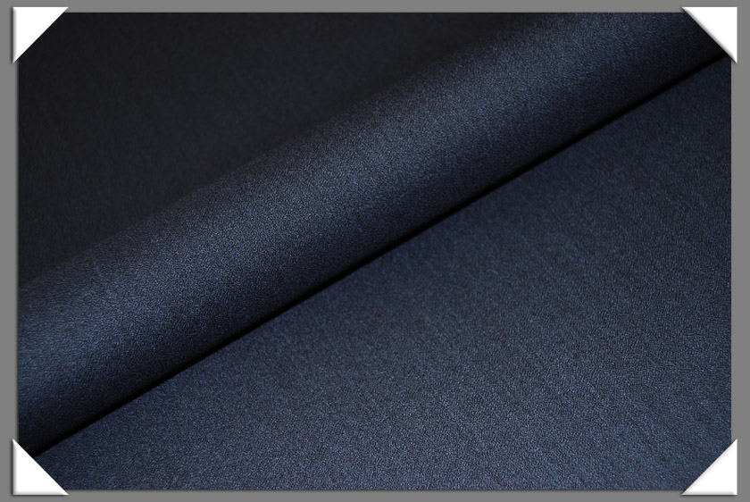 Navy Crepe Fabric