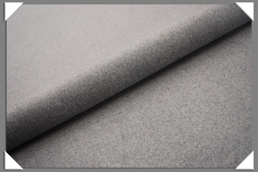 Lt. Grey Cashmere/Wool Fabric