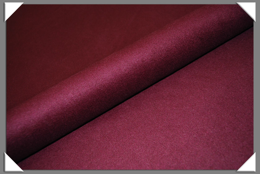 Plum Cashmere/Wool Fabric