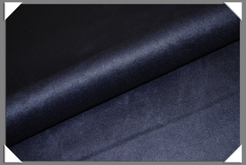 Navy Cashmere/Wool Fabric