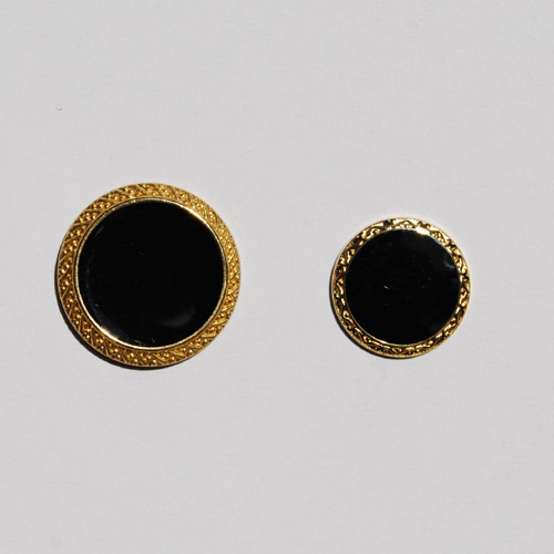 Black & Gold Metal Suit Button