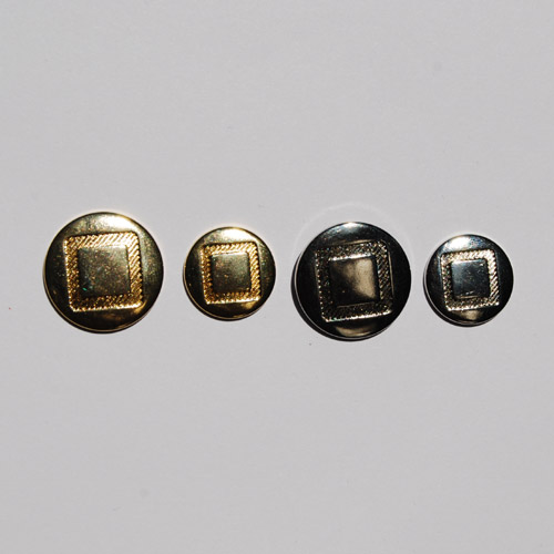 Geometric Metal Suit Button