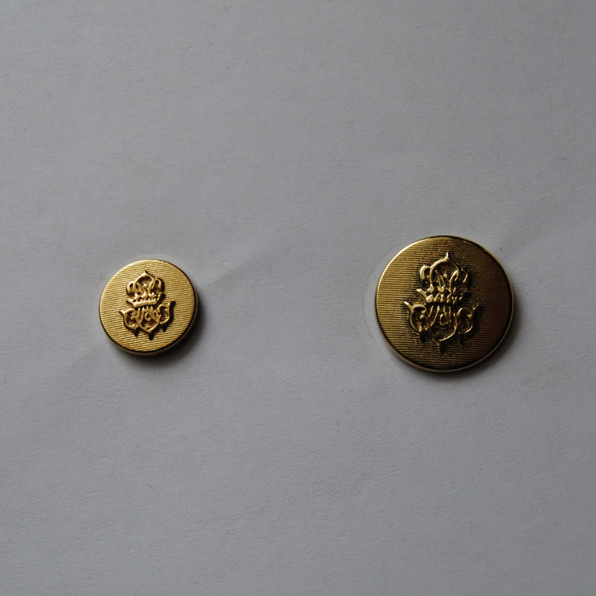 Gold Crown & Shield Button