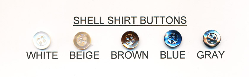 Shell Shirt Buttons