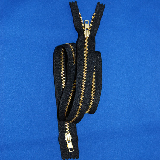 #5 Brass 2-Way Closed Bottom Zipper (Coveralls)