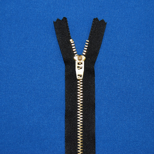 #4 Brass Jean Zipper