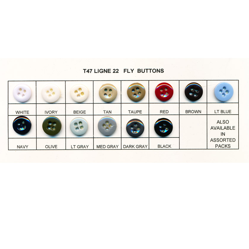 Pant Fly Buttons - Ligne 22