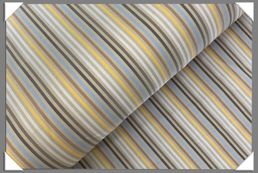 White/Yellow/Blue Striped Lining