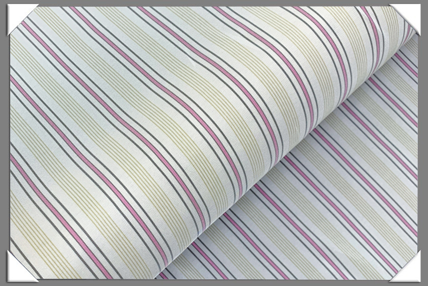 White/Yellow/Pink Striped Lining