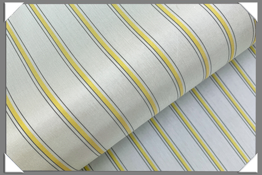 White/Grey/Yellow Striped Lining
